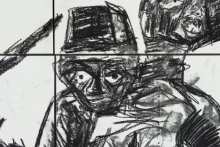 Pierre Mukeba Veridical Paradox (P3) (detail), 2021; charcoal on archival paper; 90 x 126 cm; enquire