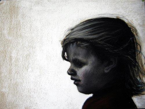 Louise Hearman Untitled #1069, 2004; pastel on coloured paper; 28 x 33 cm; enquire
