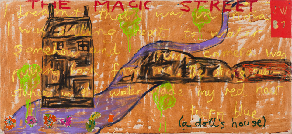 Jenny Watson The Magic Street (a doll's house), 1987; 83 x 182 cm; enquire