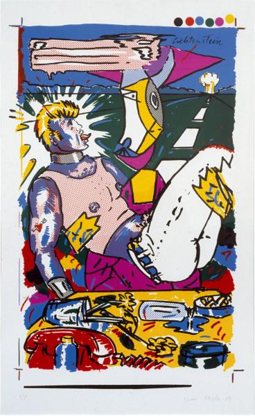 Juan Davila Beauty and the Beast, 1982; oil on canvas; 137 x 137 cm; enquire