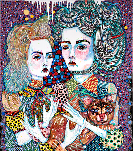 Del Kathryn Barton Wild Jelly Beans, 2015; acrylic on french linen; 160 x 140 cm; enquire