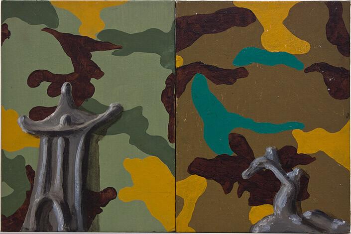 Tony Clark Chinoiserie Landscape, 1987; oil on canvas board; 30.5 x 45 cm; enquire