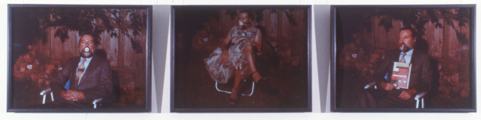 Gareth Sansom The Everlasting Secret Family, 1981-88; three cibachrome photographs; 73 x 99 cm; enquire