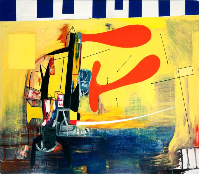 Gareth Sansom Bliss, 2010; Oil and enamel on linen; 198 x 228.6 cm; enquire
