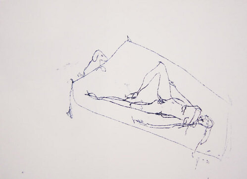 Tracey Emin Untitled, 1999; black ink on paper; 30 x 42 cm; enquire