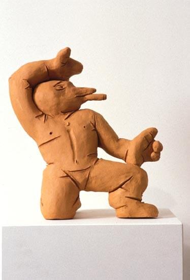 Linda Marrinon Bird with Cigar, 1994; terracotta; 30 cms high; enquire