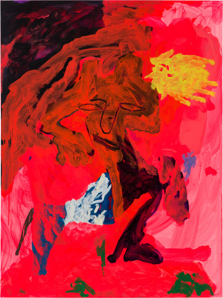 Tom Polo the flesh and the fantasy, 2019; Flashe and oil on canvas; 182 x 138 cm; Enquire