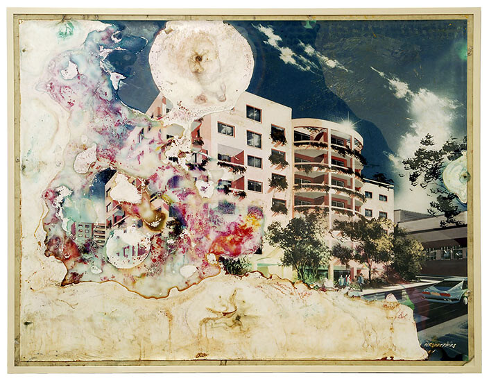 Hany Armanious Teleplastic Emanations, 1992; altered Readymade in conjunction with evicted Surry Hills residents; 131.5 x 171.5 cm; enquire