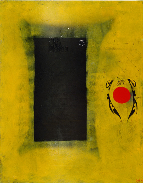 Dale Frank Title Tat—The Brown Eye and The Red Eye, 1989; oil on canvas; 230 x 180 cm; enquire