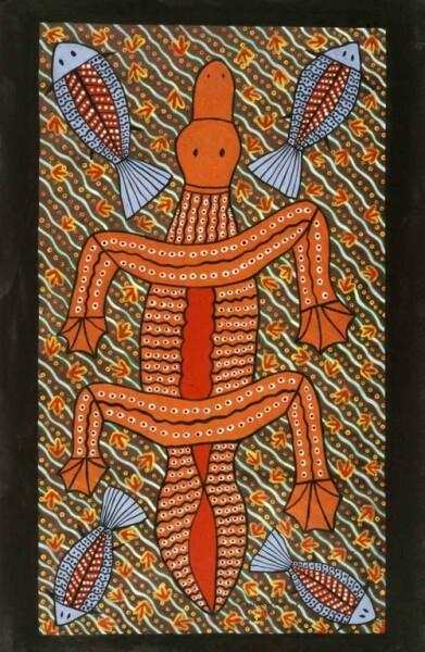 Robert Campbell Jnr Platypus, 1989; acrylic on canvas; 92 x 55 cm; enquire