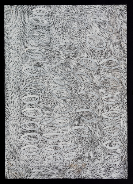 Nyapanyapa Yunupingu untitled, 2018; 5978-18; paint pen on clear acetate; 84 x 60 cm; enquire