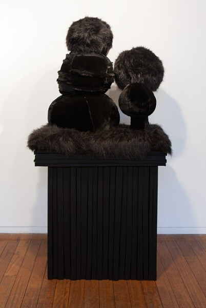 Kathy Temin Small Black Garden, 2010; wood, steel, synthetic fur and filling; 165 x 70 x 50 cm; enquire