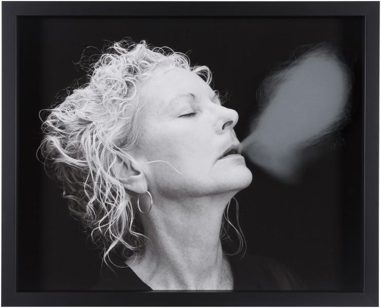 Julie Rrap Blow Back #30, 2018; digital print and handground glass; 52 x 64 cm; Edition of 3 + AP 1; enquire