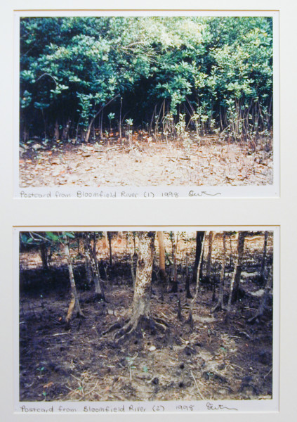 Destiny Deacon Postcard from Bloomfield River (1) (2), 1998; 2 colour laser prints; 21 x 29.7 cm; Edition of 15; enquire