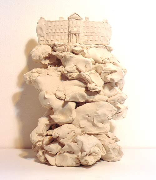 Linda Marrinon Victorian College of the Arts, 1999; from the series Sculpture For The Home; White terracotta; 33.5 x 26 x 21 cm; enquire