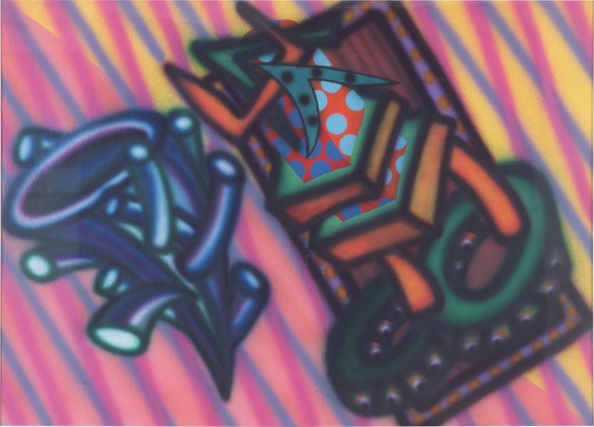 Howard Arkley Lophophora, 1984; synthetic polymer on rag paper; 77 x 107 cm; enquire