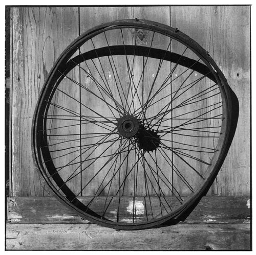 Bill Culbert Wooden bike wheel, 2002; Edition of 25; enquire