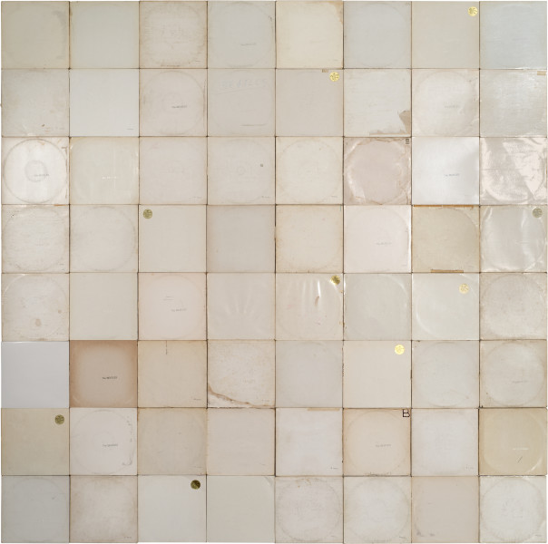 Nell More Sound Hours Than Can Ever Be Repaid - The White Album, #2, 1968-13; Cardboard record sleeves; 251.5 x 253.5 cm; enquire