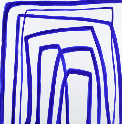 Angela Brennan Ultramarine Blue, 2005; oil on linen; 180 x 180 cm; enquire