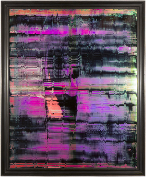 Dale Frank He just knew he had said the wrong thing, 2014; varnish on iridescent perspex; 218.5 x 178.5 x 8 cm; 200 × 160cm (unframed), 220 x 180 cm (framed); enquire