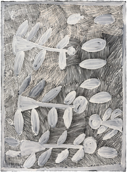 Nyapanyapa Yunupingu Untitled, 2016; 4923P; earth pigments on paper; 76 x 57 cm; enquire