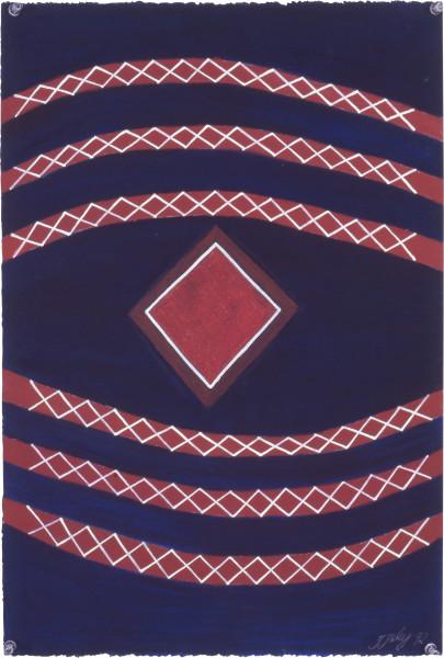 Fiona Foley Fresh Water/ Salt Water, 1992; pastel on paper; 56 x 38 cm; enquire