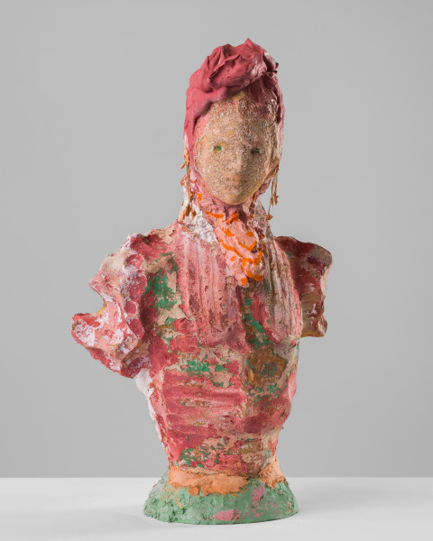 Linda Marrinon Woman with coral earrings, 2020; plaster, foam; 48 x 29 x 25 cm; enquire