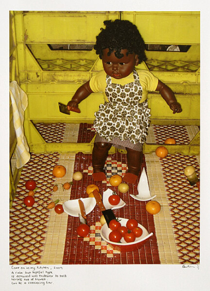 Destiny Deacon Come on in my kitchen, 2009; inkjet print from digital image on archival paper; 80 x 60 cm (image size); 105 x 81 cm (paper size); Edition of 5 + 2 APs; enquire