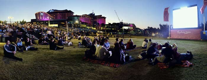 Anne Zahalka Live Site, Sydney Olympics, 2000; type C photograph; 115 x 280 cm; Edition of 12; enquire