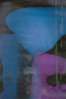 Dale Frank She grew up in Maitland and hated fried rice but thought the Coquun restaurant was the best place for pancakes and for chatting up easy late night pick up waitresses. (detail), 2021; Interference colour pigment in Easycast, Epoxyglass, on Perspex; 200 x 180 cm; enquire
