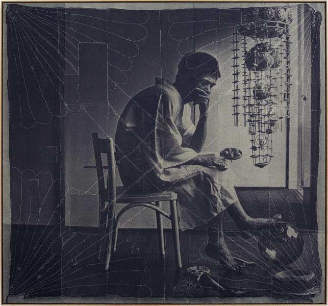 David Noonan Untitled, 2015; silkscreen on linen collage; 214 x 229 cm; enquire