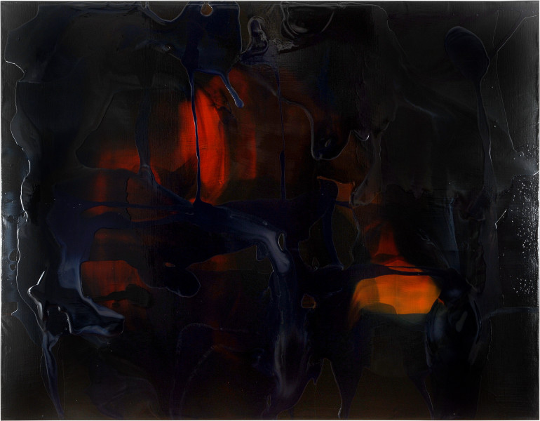 Dale Frank 9. The Unattended Funeral where both your indifference and your lust turn red, 2007; varnish on canvas; 200 x 260 cm; enquire
