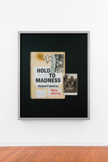 installation view; Brook Andrew This year, hold to madness..., 2020; C-Type hand printed metallic photograph; 159 x 129 cm; Edition of 3 + 2 APs; enquire