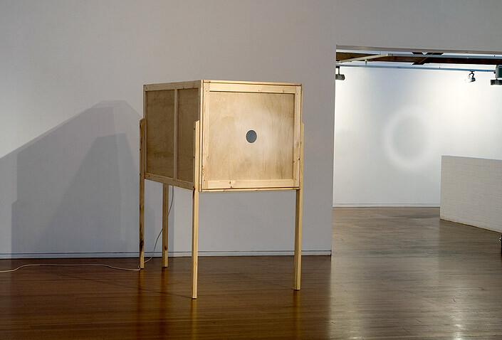 Marley Dawson Coop, 2009; timber, electrics, mechanics; 197 x 118 x 205 cm; enquire