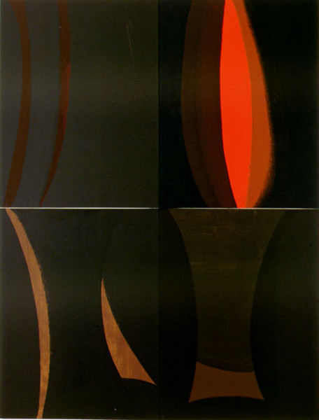 Tony Clark Lontano XXVIII, 2000; from the series Lontano; Acrylic on canvas board; 122 x 91.5 cm; 4 panels; enquire