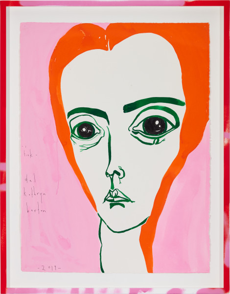 Del Kathryn Barton i tink, 2019; gouache on paper, hand finished frame; 87 x 67.5 cm; enquire