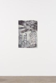 installation view; Nyapanyapa Yunupingu Djulpan, 2021; 12-21; natural earth pigments on paper; 109 x 72.5 cm; enquire