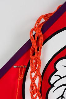 Claire Healy and Sean Cordeiro Tosa Dako (detail), 2020; Iroquois aircraft panel, acrylic gouache, response accessory cord; 115 x 105 x 10 cm; enquire
