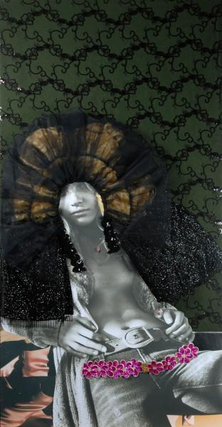 "Jacqueline Fraser 4. ""MAGIQUE Untitled"", 2008; backlit photographs and mixed media; 198 x 101.5 x 15 cm; enquire"
