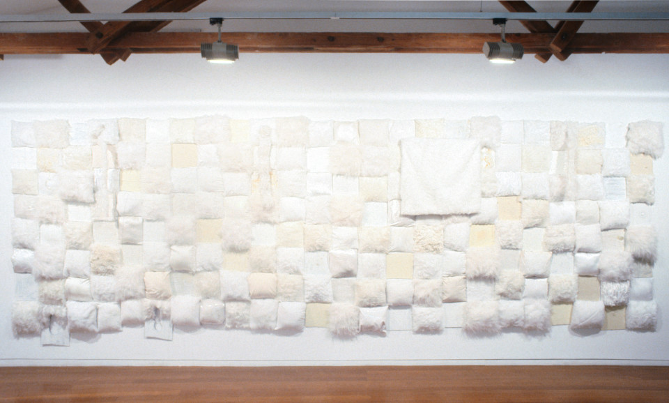 Kathy Temin Rectangular Problem II, 1993; mixed media;  x 577 x 197 cm; enquire