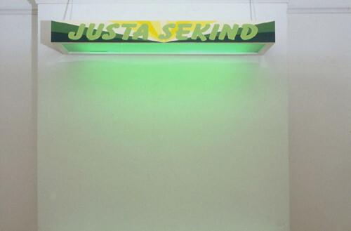 Callum Morton Justa Secend, 1998; wood, laminate, enamel, acrylic, aluminium, vinyl; enquire