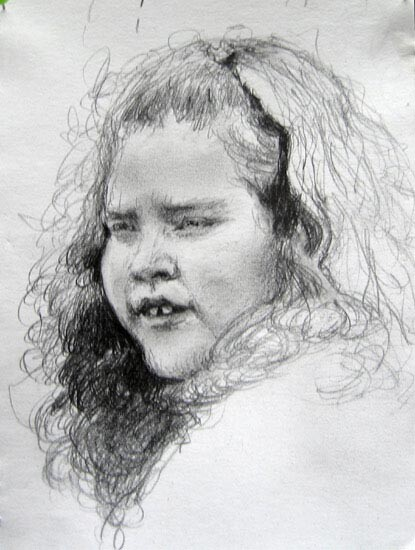 Louise Hearman Untitled #1180, 0; pencil on paper; enquire