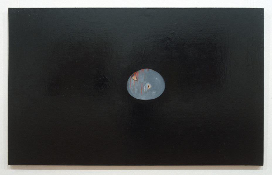 Gareth Sansom Egg, 1991; mixed media on linen; 121.5 x 197.5 cm; enquire