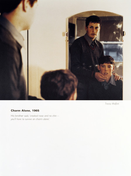 Tracey Moffatt Charm Alone, 1965, 1994; from the series Scarred For Life; offset lithograph; 80 x 60 cm; Edition of 50 + AP 9; enquire