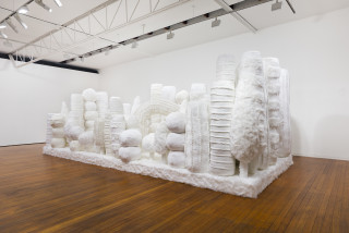 installation view; Kathy Temin Mothering Garden, 2021; synthetic fur, synthetic filling; 250 x 700 x 300 cm; enquire