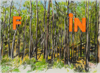 Callum Morton Fin, 2020; pencil on paper; 45.5 x 56 cm; enquire