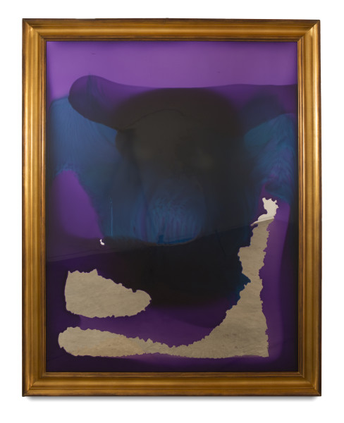 Dale Frank She drowned in her naff redundancy, 2014; varnish on perspex; 180 x 140 cm; (framed); enquire
