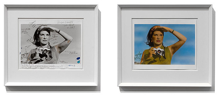 Tracey Moffatt Self Portrait, 1999-2012; black and white photograph, pen, and hand-coloured photograph on Fiber paper; 25 x 35 cm (paper size); 45.5 x 52.5 (frame size) ; enquire