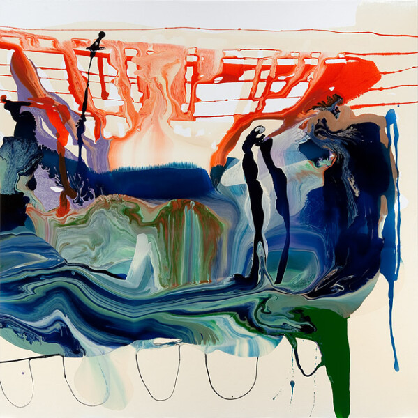 Dale Frank Immortality for something, anything, 2011; varnish on canvas; 200 x 200 cm; enquire