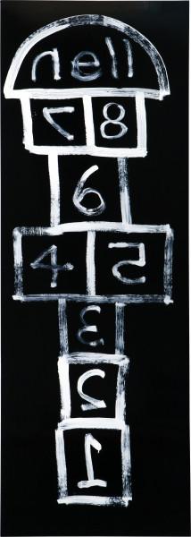 Nell 1, 2, 3, 4, 5, 6, 7, 8, nell, 2010; enamel on New Zealand kiln dried pine; 213 x 76 cm; enquire